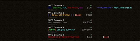 motd color codes how to color your minecraft server motd minecraft motd