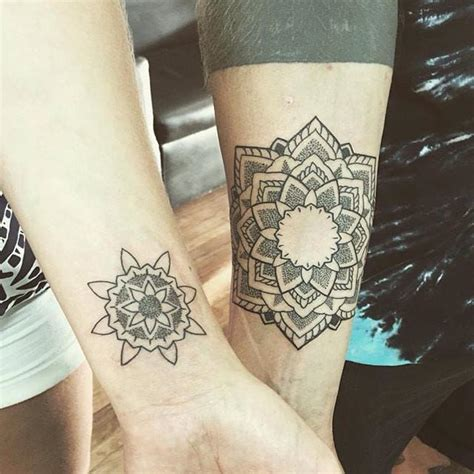 tattoo couples instagram geometric matching mandala tattoos by buchtattoo bali
