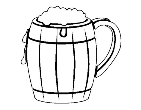 glass of beer colouring pages
