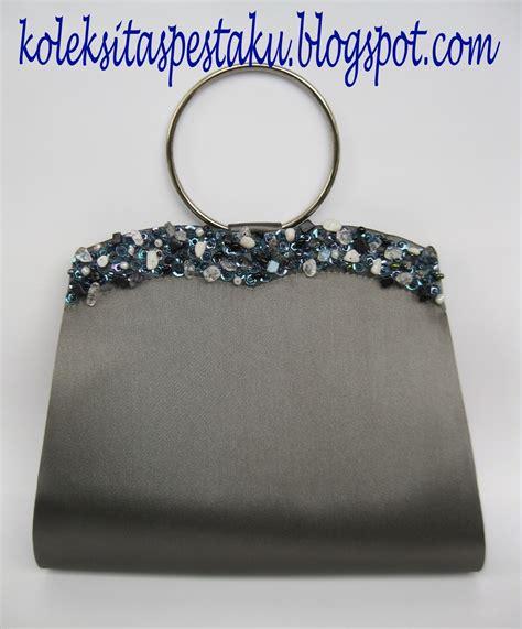 Tas Pesta 1099 Silver tas pesta clutch bag taspestaku clutch bag model ring dengan ukuran lebih besar dari tas