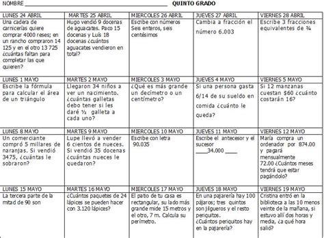 desafios matematicos alumnos 6o sexto grado primaria by gines ciudad excelentes calendarios matem 225 ticos de primer a sexto grado