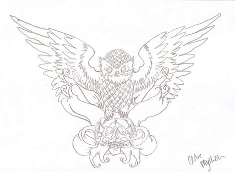 owl outline tattoo owl outline