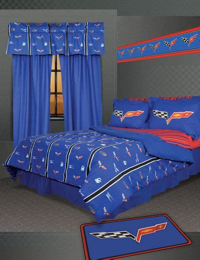 corvette bedroom set corvette bedding set logan s room remodel pinterest