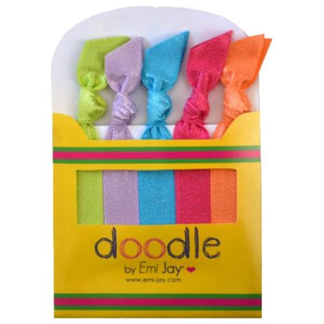 doodle hair ties doodle by emi crayon pack tropical