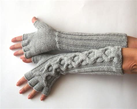 knitted gloves with fingers pattern knit pattern for inverted cable fingerless gloves with