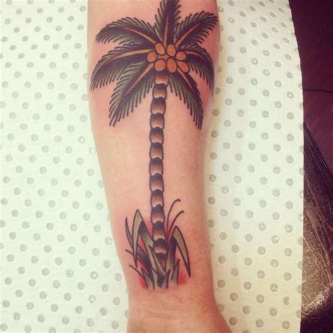 traditional sailor jerry palm tree tattoos pinterest