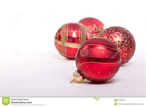 red and gold christmas baubles royalty free stock photo