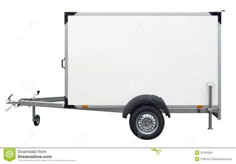 trailer white white trailer stock images image 35194584