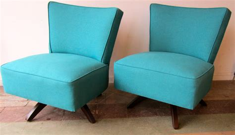 1950 s turquoise slipper chairs swivel reeves antiques
