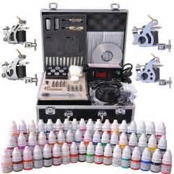 tattoo kit kit 4 guns lcd power supply 54 ink w thelashop