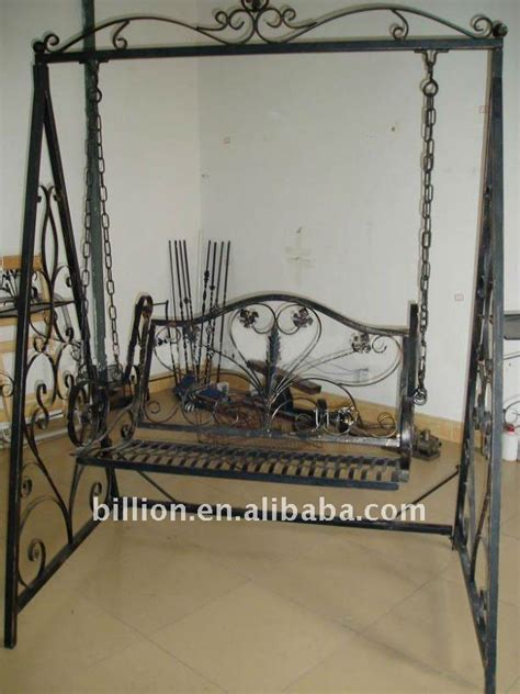 wrought iron swing with stand outdoor decoration garden wrought iron swing buy garden