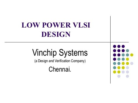 layout verification in vlsi low power vlsi design