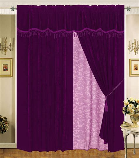 purple velvet drapes purple velvet curtains purple ring grommet top velvet