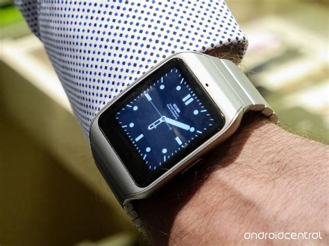 Sony Smartwatch 3 Metal on the stainless steel sony smartwatch 3 android central
