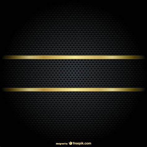 gold border on a black background free vector 123freevectors