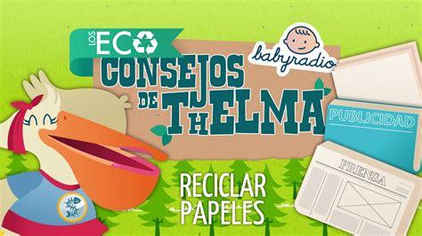 imagenes niños reciclando educaci 243 n ambiental para ni 241 os reciclar papeles youtube