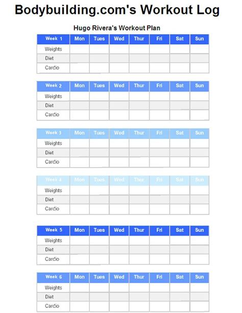 printable food log bodybuilding printable workout charts bodybuilding com workout