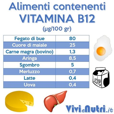 acido folico alimenti tabella vitamina b12 vivienutri it
