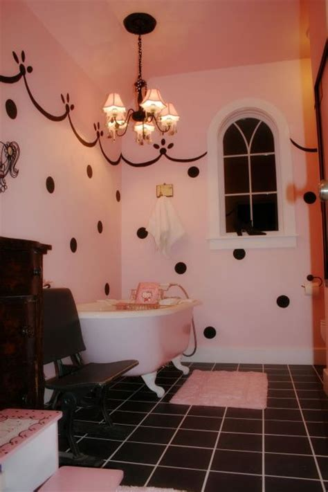 black and pink bathroom ideas 1000 images about polka dots in bathroom on pinterest