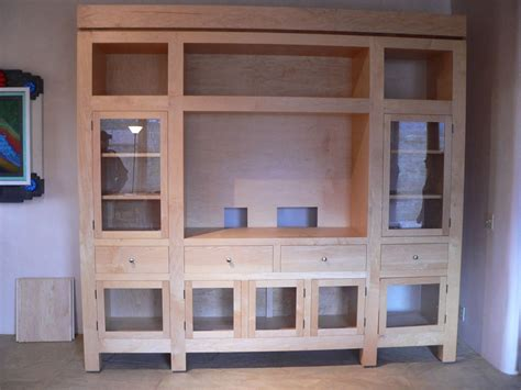 tv cabinet with glass doors custom diy unfinished oak tv stand cabinet with glass door