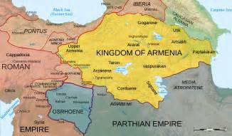 map of armenia 50 ad illustration ancient history