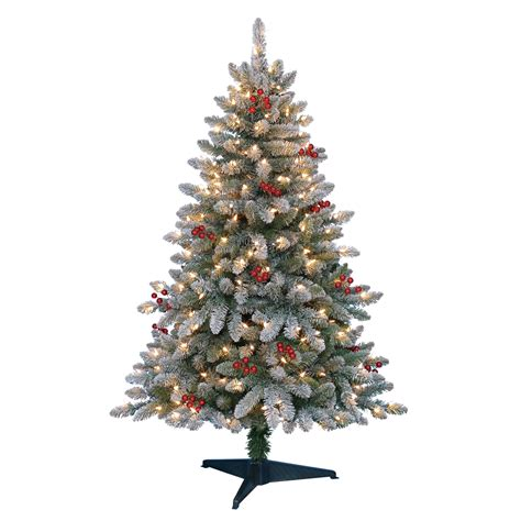 searscom white christmas tree 4 5 pre lit flock pine tree creating memories at kmart