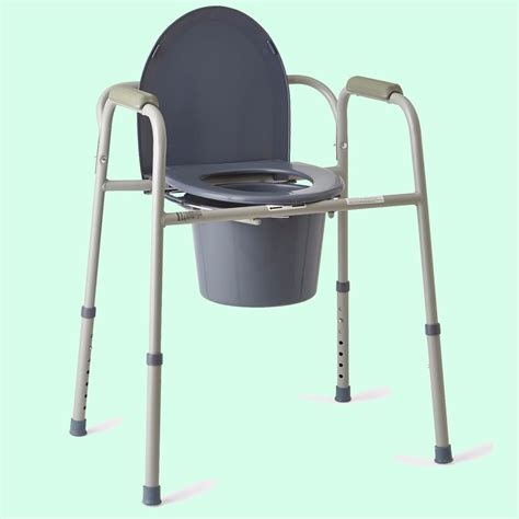 commode bathroom commode seat steel frame bathroom aid adjustable bedside