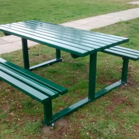 steel picnic table croston vandal resistant all steel picnic table and bench set