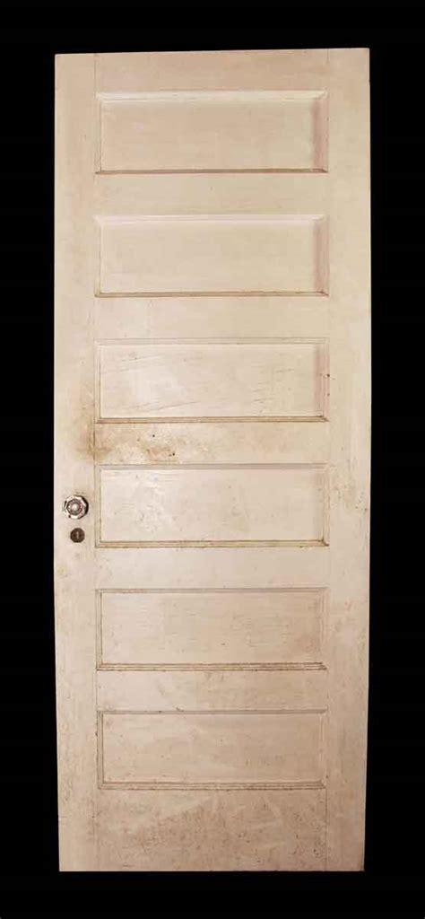 white paneled interior doors six paneled door with white on one side olde things