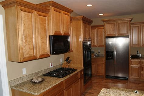 marvelous wood kitchen cabinets 2 walls with