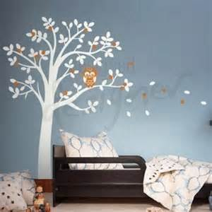 Owl Wall Mural Hooting Owl On Woodland Tree Wall Sticker Mural