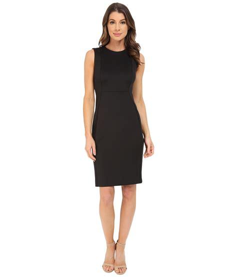 Klein Black calvin klein sleeveless sheath dress cd6m1a00 in black lyst