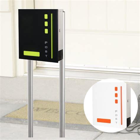 smartes wohnen design standbriefkasten port mit zeitungsfach bridgeport