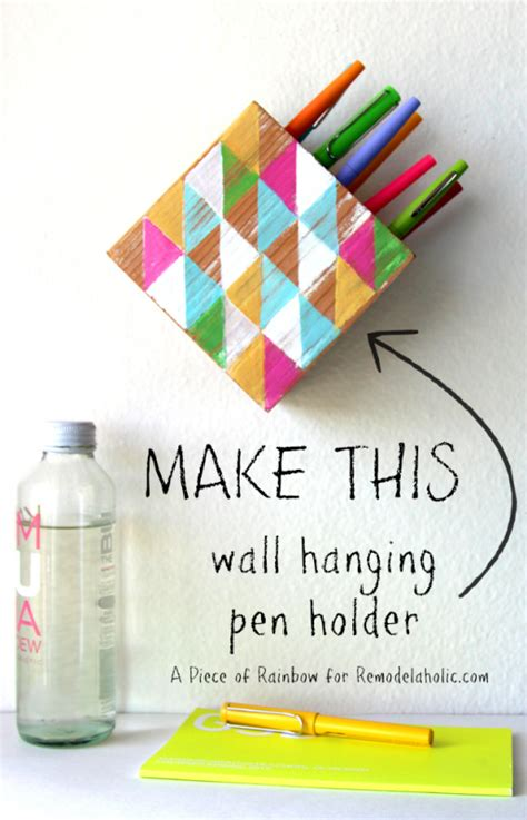 Beach House Plans Free remodelaholic make a modern wall hanging pen holder