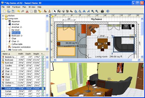 sweet home design 3d software sweet home 3d 5 3 free download downloads freeware