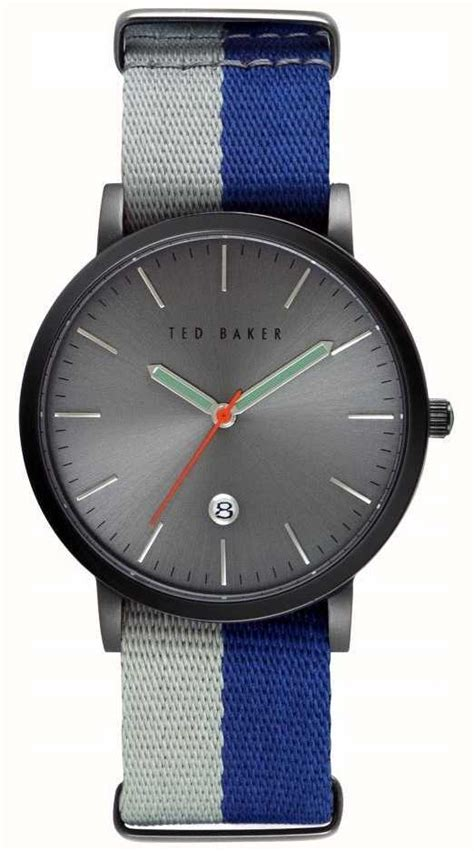 Ted Baker Te10024783 ted baker mens blue fabric quartz analog te10026447 class watches