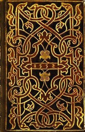 Cover Book Motif renaissance italian and gold on