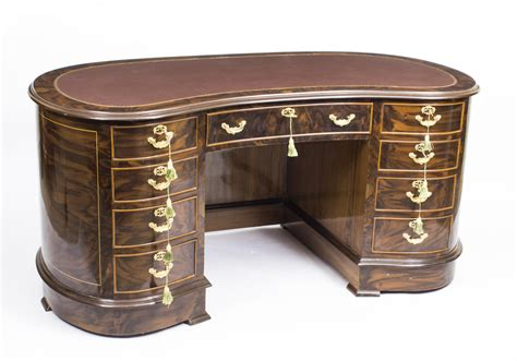 Vintage Style Table Ls by Vintage Style Burr Walnut Kidney Shaped Desk