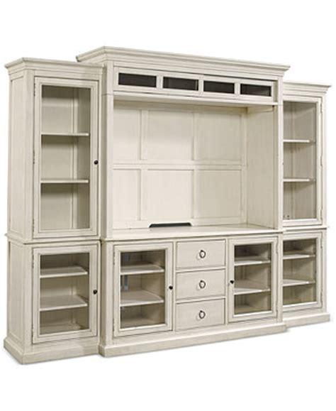 carlton entertainment wall units 4 pc entertainment wall sag harbor white 4 pc wall unit 2 bookcases