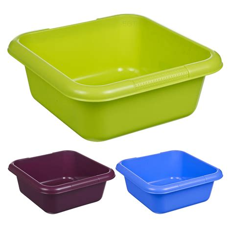 Kitchen Sink Bowl Plastic Square Washing Up Bowl Stackable Kitchen Sink Plastic Basics Dish Caddy Design Ebay