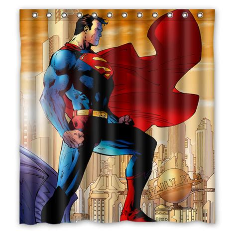 superhero superman shower curtain
