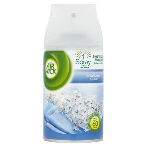 air wick refills air wick freshmatic max refill touch of luxury crisp linen and lilac 250ml at wilko