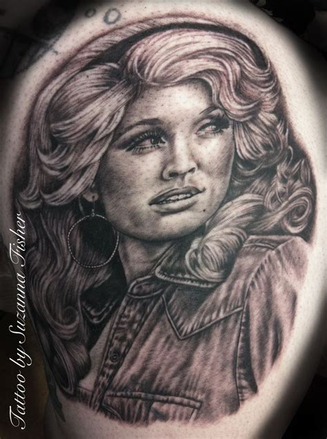 dolly parton tattoo hello dolly dolly parton portrait by suzanna