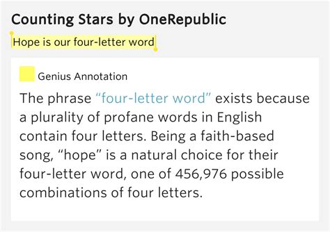 The Letter Acceptance Lyrics Meaning Is Our Four Letter Word Counting Lyrics Meaning