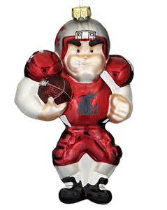 washington state cougars football player personalized ornament