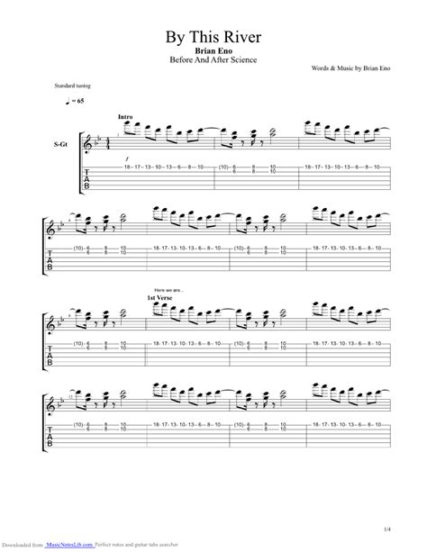 by this river testo by this river guitar pro tab by brian eno musicnoteslib