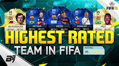 best on highest team on fifa 195 fifa 16