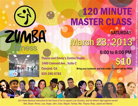 Zumba Master Class Flyer in the burb
