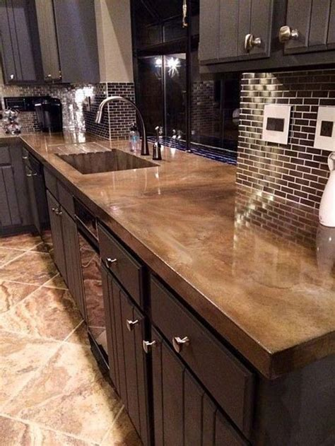 diy kitchen countertop ideas best 25 concrete kitchen countertops ideas on