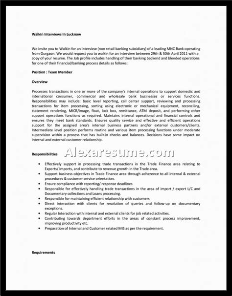 profile resume sectionalexa document document